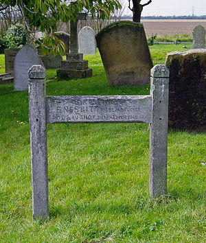E. Nesbit - E. Nesbit's grave in St Mary in the Marsh's churchyard bears a wooden grave marker made by her second husband, Thomas Terry Tucker. There is also a memorial plaque to her inside the church.