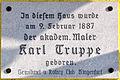 Ebenthal Werouzach 8 Geburtshaus Karl Truppe Schild 13022010 343.jpg