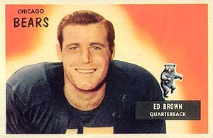 Ed Brown (quarterback) - Brown on a 1955 Bowman football card