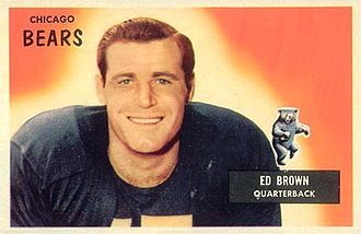 Ed Brown (quarterback) - Brown on a 1955 Bowman football card
