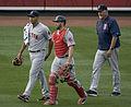 Eduardo Rodríguez, Blake Swihart and Carl Willis on June 9, 2015.jpg