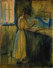 Jeune Femme e lavant