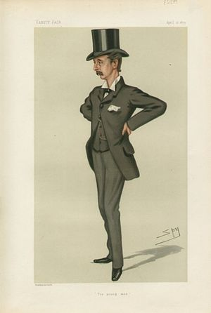 Edward Stanhope - Caricature by Spy published in Vanity Fair in 1879.