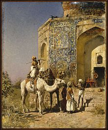 Edwin Lord Weeks - The Old Blue-Tiled Mosque Outside of Delhi, India - Google Art Project.jpg