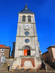 The church in Mandres-aux-Quatre-Tours