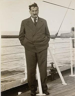 Egon Kisch - Egon Kisch on board the Strathaird bound for Australia; November 1934.
