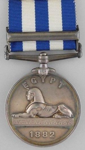 Egypt Medal - Image: Egypt Medal 1882 Reverse