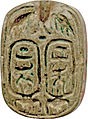 Egyptian - Plaque with the Throne Name of Thutmosis IV - Walters 4228 - Reverse.jpg