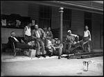 Eight men on a verandah at South Head (3550243315).jpg