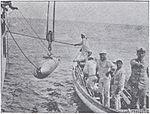 Ejercicios de torpedos en el crucero 'Uruguay'.jpg
