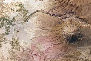 Misti - Image: El Misti Volcano and Arequipa, Peru