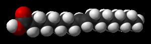 Elaidic acid - Image: Elaidic acid from xtal 3D vd W
