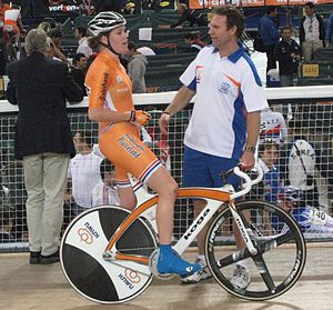 2008 UCI Track Cycling World Championships – Women's scratch - Ellen van Dijk after a World Cup scratch race in January 2008