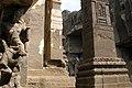 Ellora Caves, India, Pillars at Kailasa Temple 2.jpg