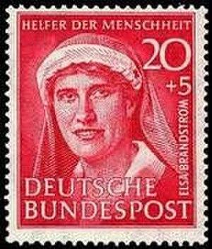 Elsa Brändström - Elsa Brändström as depicted on a German stamp in 1951