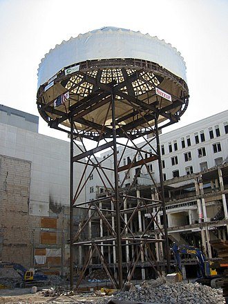 The Emporium (San Francisco) - The dome during construction of Westfield San Francisco Centre Phase II