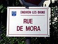 Enghien-les-Bains - Plaque Rue de Mora.jpg