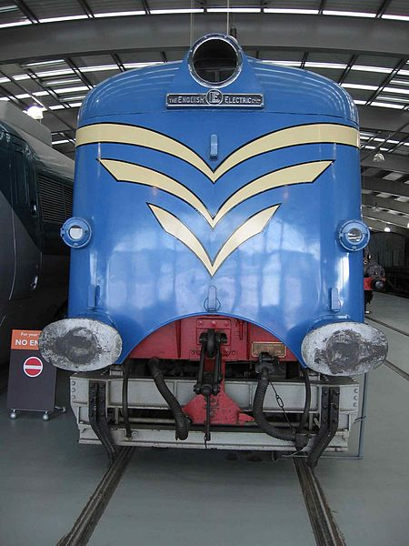 "English Electric ""Deltic"" in Shildon - (C) Graeme Leggett - CC 3.0 via Wikimedia Commons"