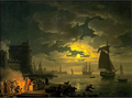 Entrance to the Port of Palermo by Moonlight, 1769.PNG