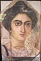 Epoca romana, ritratto femminile del fayum, IV sec dc.JPG