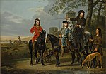 "Equestrian Portrait of Cornelis (1639–1680) and Michiel Pompe van Meerdervoort (1638–1653) with Their Tutor and Coachman (""Starting for the Hunt"") MET DP146442.jpg"