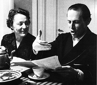 Erik Bergman - Erik Bergman and his third wife, the writer Solveig von Schoultz (1907–1996)