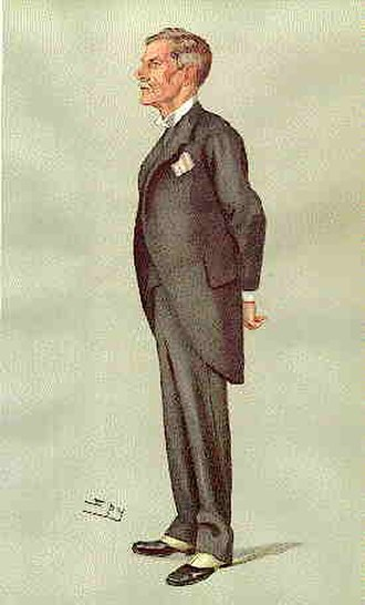 Ernest Mason Satow - Satow caricatured by Spy for Vanity Fair, 1903