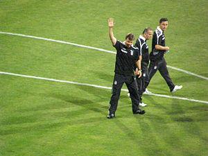 Ertuğrul Sağlam - Sağlam before a Beşiktaş match
