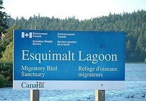 Colwood, British Columbia - Esquimalt Lagoon Sign, Colwood, British Columbia