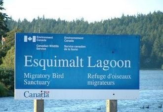Colwood, British Columbia - Esquimalt Lagoon Sign, Colwood, British Columbia