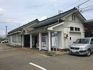 Etchū-Daimon Station Railway station in Imizu, Toyama Prefecture, Japan