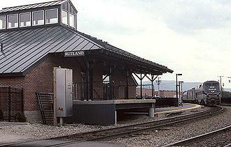 Ethan Allen Express - The Ethan Allen Express at Rutland in 2001
