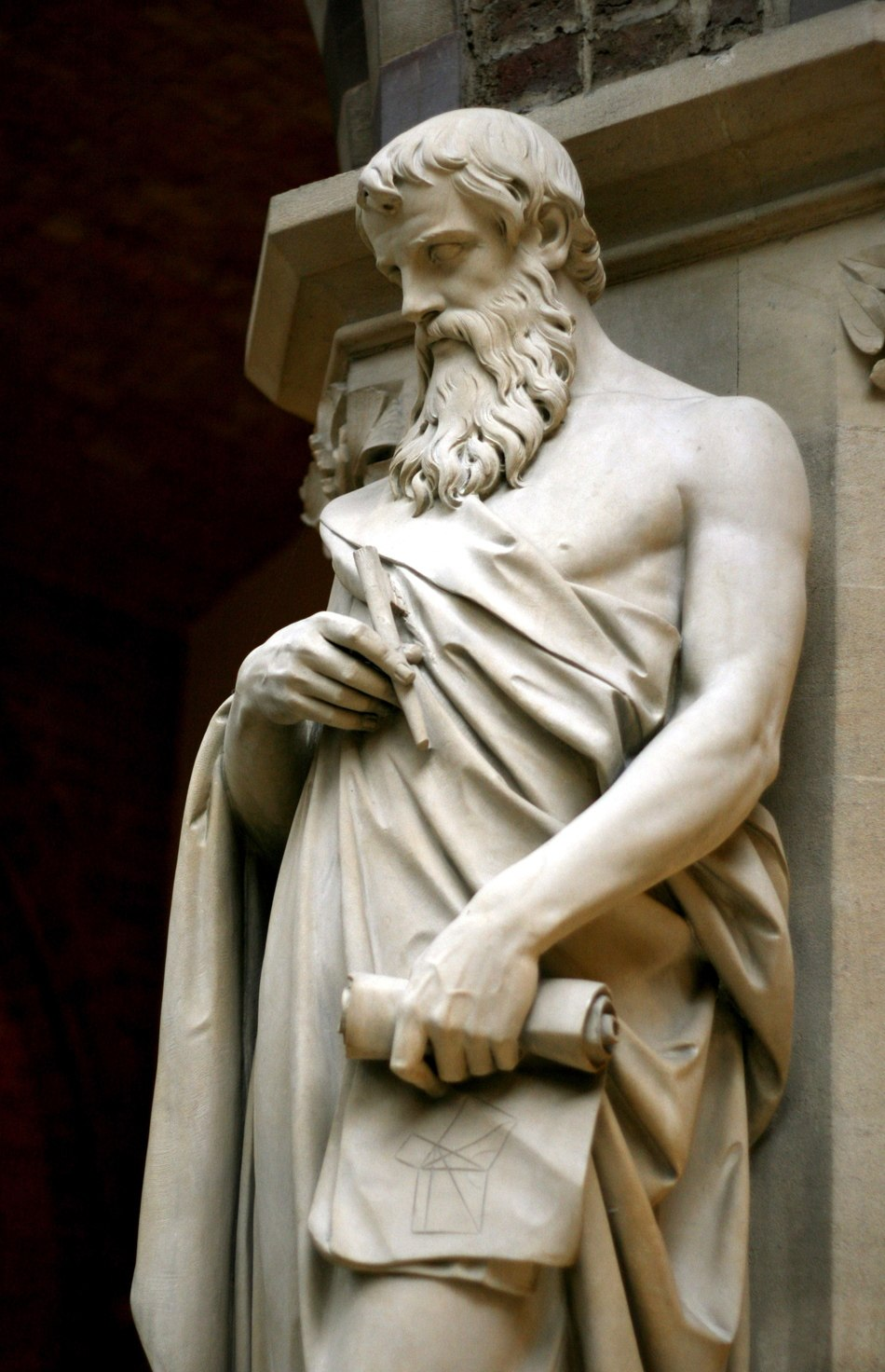 Euclid statue, Oxford University Museum of Natural History, UK - 20080315