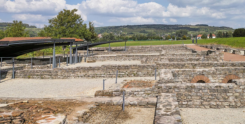Europäischer Kulturpark Bliesbruck-Reinheim. Grabungsstätte Bliesbruck, römisches Handwerkerviertel.