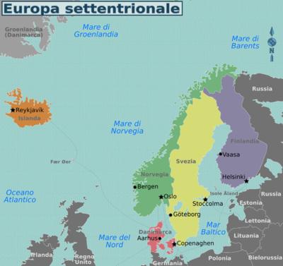 Nord Europa Cartina Politica.Europa Settentrionale Wikivoyage Guida Turistica Di Viaggio