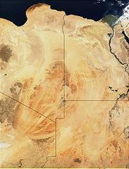 Die Sahara vom Weltraum aus gesehen
