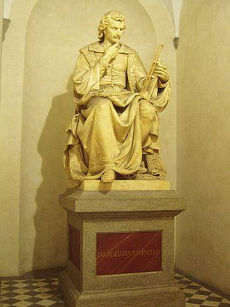 Evangelista Torricelli - Torricelli's statue in the Museo di Storia Naturale di Firenze