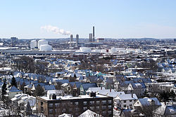 Everett in winter as viewed from the Whidden Hospital in 2007.