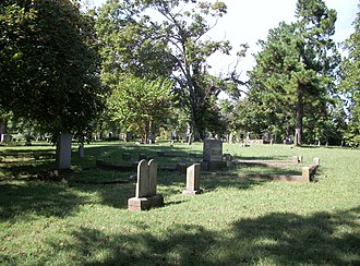 Fayetteville Township, Washington County, Arkansas - Evergreen Cemetery is located near the University of Arkansas in the central part of Fayetteville.