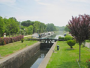 Évran - Lock on the Canal d'Ille-et-Rance