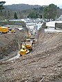 Excavation of underpass entrance to Bodnant Garden - geograph.org.uk - 1442138.jpg
