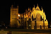 Exeter Cathedral by Night - geograph.org.uk - 733670.jpg