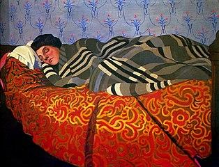 Femme couchée dormant