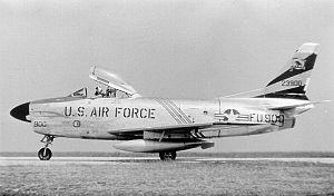 Erding Air Base - North American F-86D-45-NA Sabre Serial 52-3900 of the 440th Fighter-Interceptor Squadron, Erding Air Base, 1956