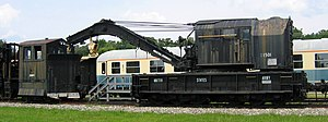 Fort Eustis Military Railroad - 75-ton crane C-1501 at the Transportation Museum.