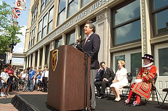 Frazier History Museum - Mayor Jerry Abramson speaks at the opening ceremony, May 22, 2004.