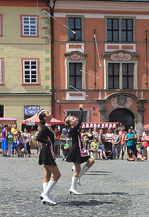 Majorettes from Jeseník on International festival FIJO Cheb 2012