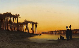 Théodore Frère - SUNSET ON THE NILE 1877