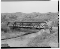 FULL VIEW OF BRIDGE - WEST TO EAST - Mounds Bridge, County Road 115 Spanning Price River, 12 miles Northeast of Elmo, Elmo, Emery County, UT HAER UTAH,8-ELMO.V,1-3.tif