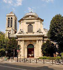 Facciata della chiesa di Saint-Nicolas-du-Chardonnet, a Parigi.